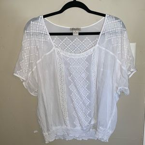 Lucky brand sheer peasant blouse